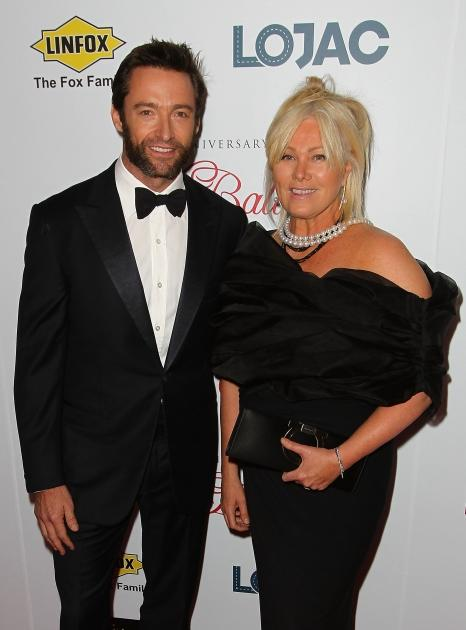 Hugh Jackman and wife Deborra-Lee Furness arrive at the Fight Cancer Foundation's 20th Annual Red Ball on October 20, 2012 in Melbourne, Australia -- Getty Images