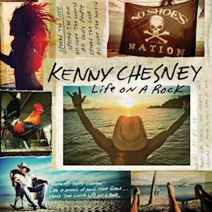 """This CD cover image released by Blue Chair Records, LLC / Columbia Nashville shows """"Life on a Rock,"""" by Kenny Chesney. (AP Photo/Blue Chair Records, LLC / Columbia Nashville)"""