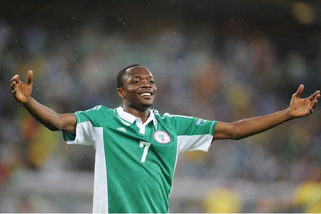 Nigeria's Ahmed Musa celebrates after scoring against Mali during the 2013 African Cup of Nations semi-final in Durban
