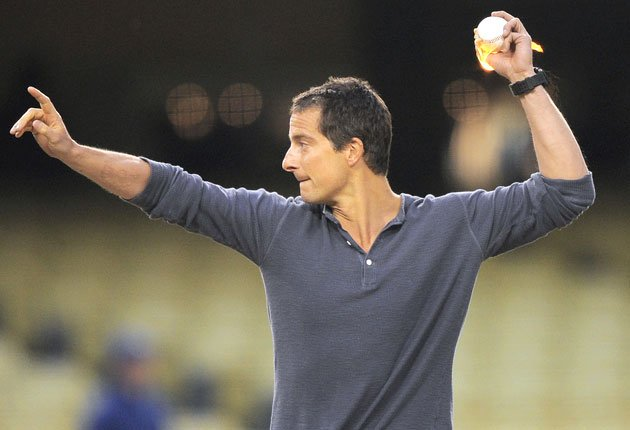 > Bear Grylls Lights first pitch on fire at Dodger Stadium (video) - Photo posted in BX SportsCenter | Sign in and leave a comment below!