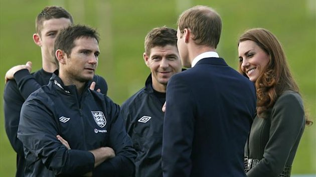 England and Chelsea's Frank Lampard meets Kate Middleton (Reuters)