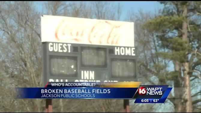 Jackson baseball fields in poor condition