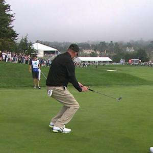 Wayne Gretzky makes a great birdie on No. 3 at AT&T Pebble Beach