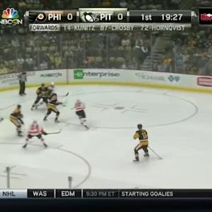 Marc-Andre Fleury Save on Andrew MacDonald (00:33/1st)