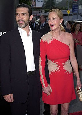 Premiere: Antonio Banderas and Melanie Griffith at the L.A. premiere of MGM's Original Sin - 7/31/2001