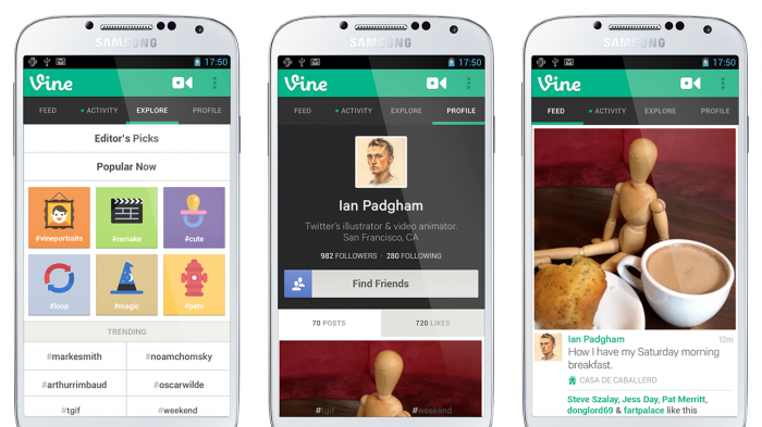 Twitter's video-sharing app 'Vine' now available for Android