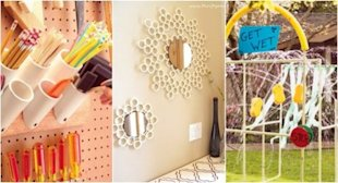7 decorative uses for PVC pipe