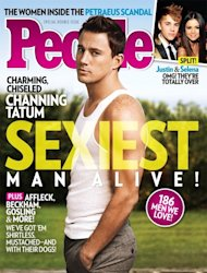 People Magazine name Channing Tatum as 2012 Sexiest Man Alive