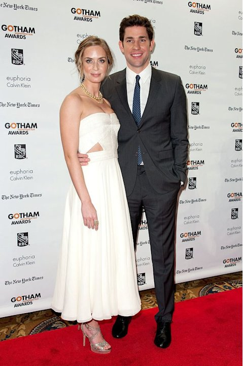 And last but not least we have one of our favorite Hollywood couples, Emily Blunt and John Krasinski, who made for quite the dynamic duo at the 22nd Gotham Independent Film Awards. Wearing a strapless