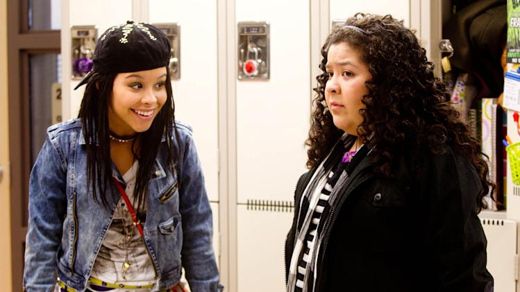 "In this film image released by Pantelion Films, Cierra Ramirez, left, and Raini Rodriguez are shown in a scene from ""Girl in Progress."" (AP Photo/Pantelion Films, Bob Akester)"