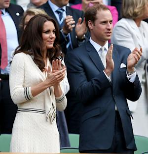 Prince William, Kate Middleton Take in July 4th Match at Wimbledon