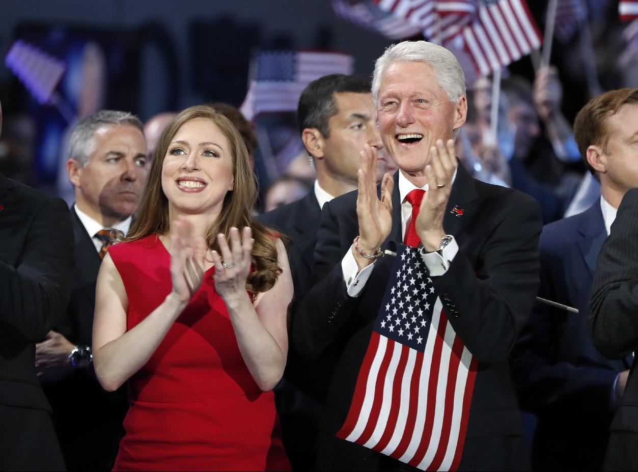 This time, an adoring He looks on as She accepts nomination