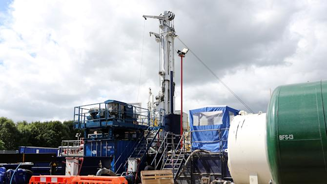 Energy firm halts work in face of fracking protest