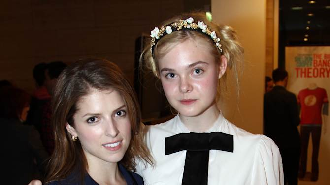 """IMAGE DISTRIBUTED FOR FIJI WATER - Actress Anna Kendrick, left, and actress Elle Fanning attend the after party for a screening of """"Ginger and Rosa"""" hosted by FIJI Water on Thursday, Nov. 8, 2012 in Beverly Hills, Calif.  (Photo by Matt Sayles/Invision for Fiji Water/AP Images)"""