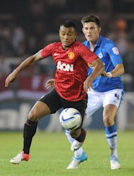 Henning Berg has made Manchester United striker Joshua King his first signing as Blackburn boss