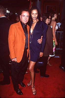 Udo Kier and Nina Casanova at the Hollywood premiere of New Line Cinema's Blade