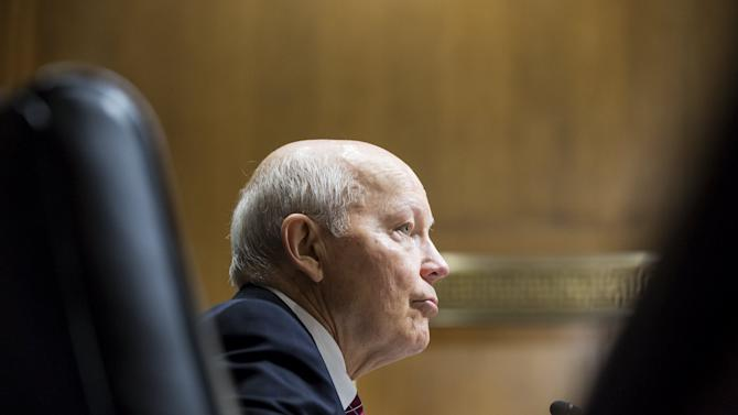 "IRS Commissioner John Koskinen testifies before a Senate Finance Committee hearing on ""Internal Revenue Service Data Theft Affecting Taxpayer Information"""