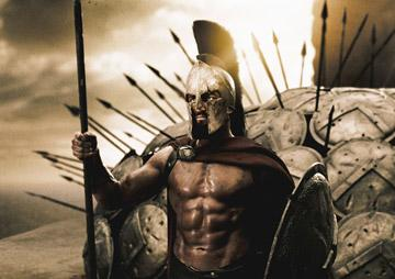 Gerard Butler as Leonidas in Warner Bros. Pictures' 300