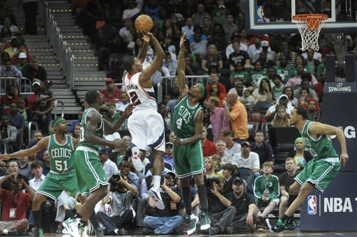 Hawks beat short-handed Celtics 97-92