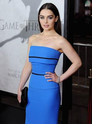 Emilia Clarke arrives at the Los Angeles Premiere of HBO's 'Game Of Thrones' Season 3 at TCL Chinese Theatre on March 18, 2013 in Hollywood, Calif. -- Getty Premium