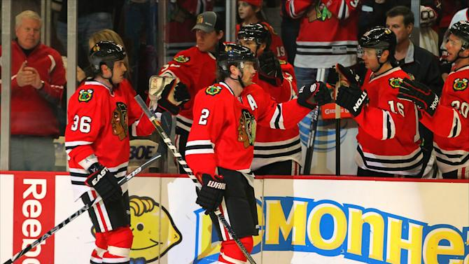 NHL: San Jose Sharks at Chicago Blackhawks
