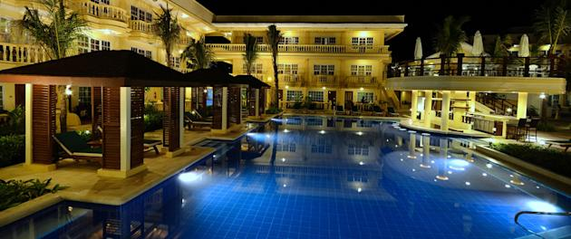 Boracay Garden pool at night