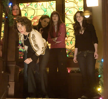 Crystal Lowe , Andrea Martin , Lacy Chabert, Mary Elizabeth Winstead and Michelle Trachtenberg in Weinstein Company's Black Christmas