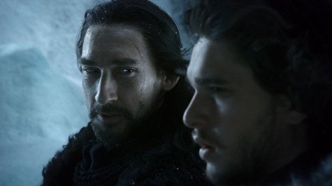 Game of Thrones: Joseph Mawle's Benjen Stark, shown here alongside Kit Harrington's Jon Snow