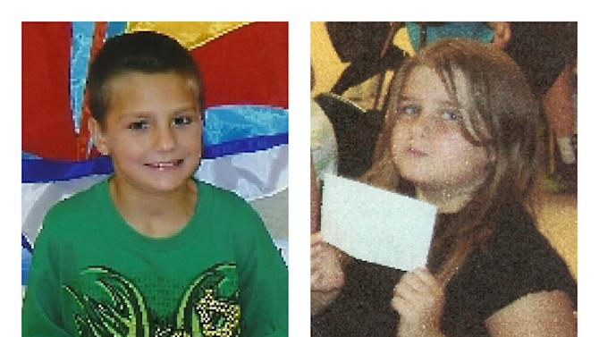 This combination of undated photos provided by the Tennessee Bureau of Investigation shows Gage Daniel, 7, left, and Chloie Leverette, 9. The two children, initially believed to have perished in a Tennessee farmhouse fire along with their step-grandparents, are now considered missing and in danger, investigators said on Wednesday, Sept. 26, 2012. The Tennessee Bureau of Investigation said the remains of Leverette and Daniel were not found and the agency issued an endangered child alert for them on Wednesday afternoon. Investigators said neighbors last saw the children Sunday evening, Sept. 23, 2012, hours before a fire destroyed the home in Bedford County about a half-hour from Nashville. (AP Photo/Tennessee Bureau of Investigation)