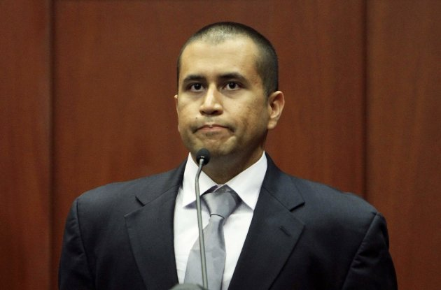 George Zimmerman testifies from the stand during a bond hearing on second degree murder charges at the Seminole County Courthouse in Sanford, Florida in this file photo taken April 20, 2012. A Florida judge on Friday revoked bail for Zimmerman, the neighborhood watch captain charged with second-degree murder for killing unarmed black teenager Trayvon Martin.