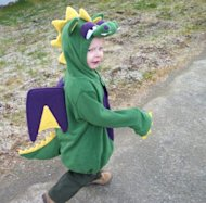 My little man on his first toddler Halloween