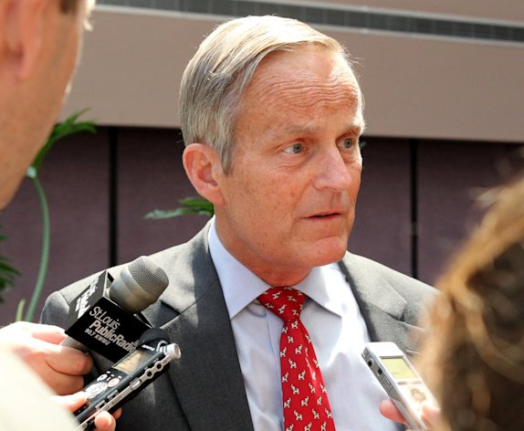 "FILE - This Aug. 10, 2012 file photo shows Todd Akin, Republican candidate for U.S. Senator from Missouri taking questions after speaking at the Missouri Farm Bureau candidate interview and endorsement meeting in Jefferson City, Mo. Akin fought to salvage his Senate campaign Monday, Aug. 20, 2012, even as members of his own party turned against him and a key source of campaign funding was cut off in outrage over the Missouri congressman's comments that women are able to prevent pregnancies in cases of ""legitimate rape."" (AP Photo/St. Louis Pos-Dispatch, Christian Gooden)"