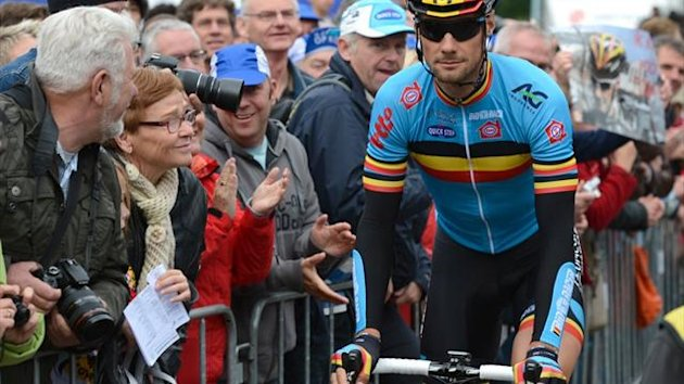 Erfolgreich operiert: Tom Boonen competes during the Elite Women Race at the UCI Road World Championships on September 22, 2012 in Valkenburg. AFP PHOTO/JOHN THYS competes during the Elite Women Race at the UCI Road World Championships on September 22, 20