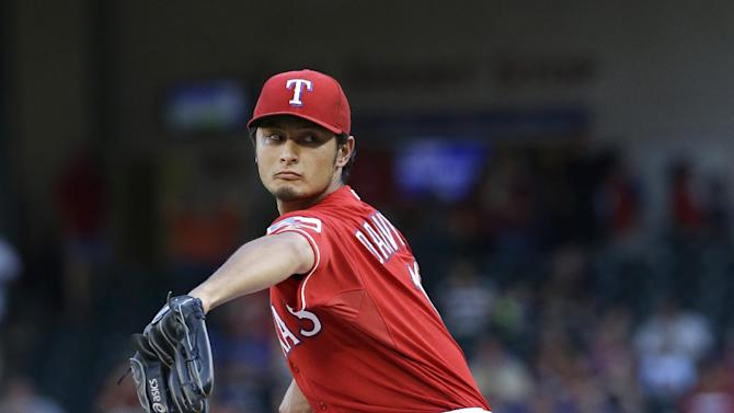 Darvish, Texas deny Miami bid for interleague mark