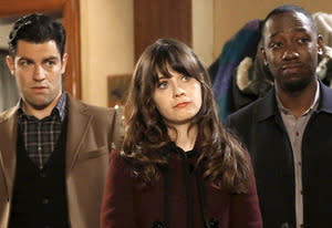Max Greenfield, Zooey Deschanel, Lamorne Morris | Photo Credits: Greg Gayne/Fox