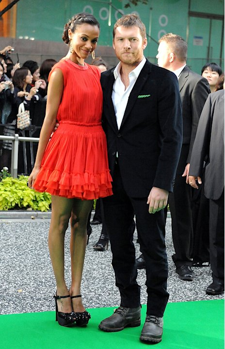 Avatar Tokyo Premiere 2009 Zoe Saldana Sam Worthington