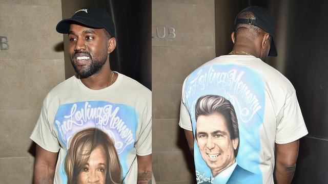 Kanye West Pays Tribute to His Late Mother and Robert Kardashian Sr. With Airbrushed T-Shirt