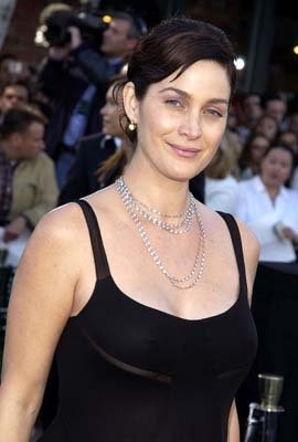 Carrie Anne Moss of Memento at the Hollywood premiere of Warner Brothers' The Matrix: Reloaded