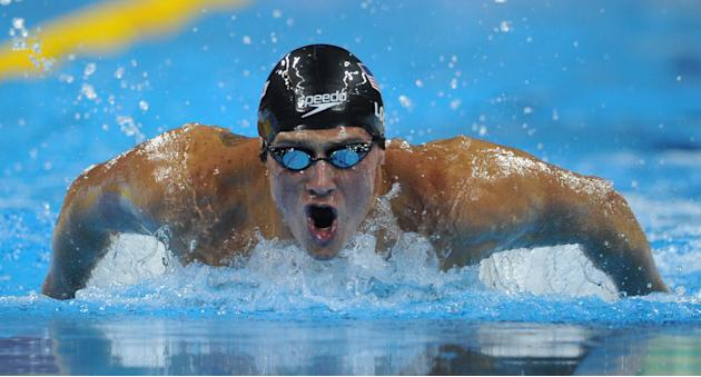 US swimmer Ryan Lochte competes in the final of the men's 400-metre individual medley swimming event in the FINA World Championships at the indoor stadium of the Oriental Sports Center in Shanghai on
