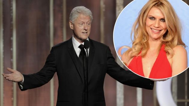 President Bill Clinton on stage to present during the 70th Annual Golden Globe Awards at the Beverly Hilton Hotel International Ballroom on January 13, 2013 in Beverly Hills / inset: Claire Danes -- Getty Premium