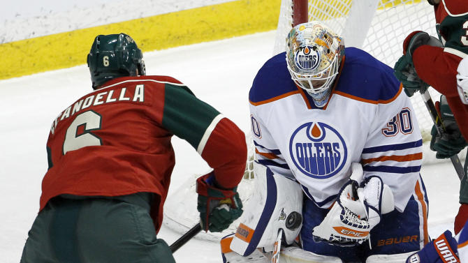 Pouliot scores twice as Oilers beat Wild 2-1