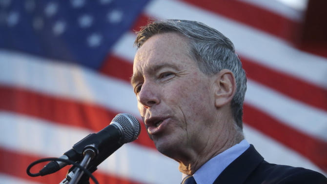 Democratic candidate for the U.S. Senate U.S. Rep. Stephen Lynch, D-Mass., addresses an audience during a campaign rally in Boston's South Boston neighborhood, Monday, April 29, 2013. (AP Photo/Steven Senne)