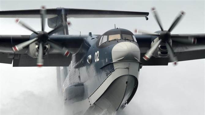 File handout photo shows a Japan Maritime Self-Defense Forces US-2 search-and-rescue amphibian plane, manufactured by ShinMaywa Industries Ltd
