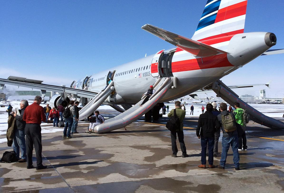 Smoke report prompts emergency exit from plane in Denver