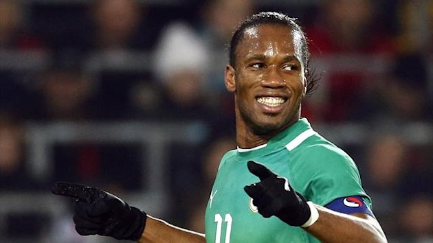 Didier Drogba in action for Ivory Coast (Reuters)