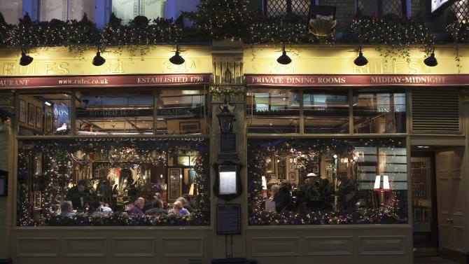 File photo shows the exterior of Rules restaurant in London