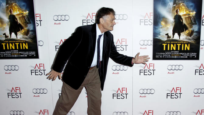 "Actor Fred Willard arrives at a screening of ""The Adventures of TinTin"" during the closing night gala of AFI FEST 2011, Thursday, Nov. 10, 2011, in Los Angeles. ""The Adventures of TinTin"" opens in theaters Dec. 21, 2011. (AP Photo/Matt Sayles)"