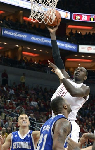 No. 10 Louisville downs Seton Hall 79-61