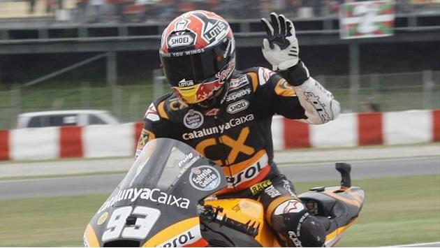 Marquez claims sixth Moto2 pole of 2012