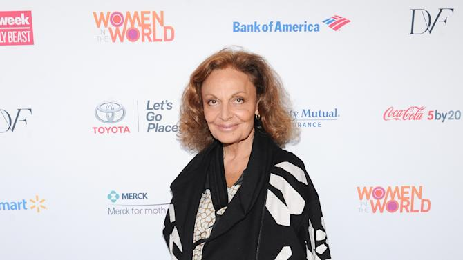 Fashion designer Diane von Furstenberg attends the 4th Annual Women in the World Summit at the David H. Koch Theater on Thursday, April 4, 2013 in New York. (Photo by Evan Agostini/Invision/AP)